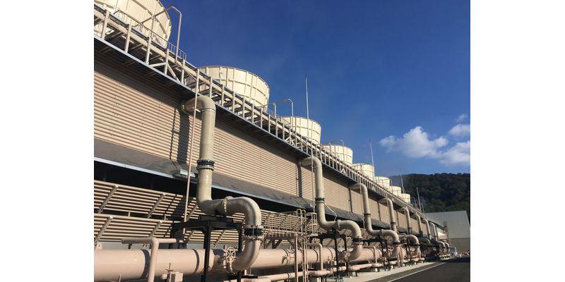 山葵沢でも景観に配慮して小型の冷却塔が採用されている