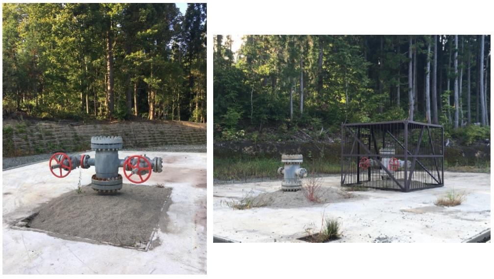 かたつむり山で掘削された調査井の坑口